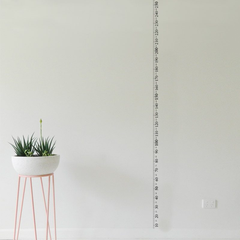 ruler wall sticker 2.5 metre or 8 foot