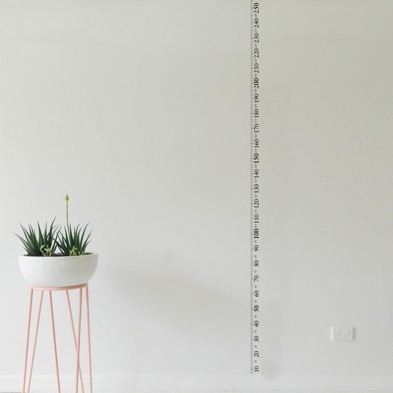 ruler wall sticker 2.5 metre or 8 foot