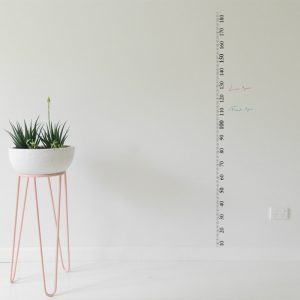 ruler height chart wall sticker metric black