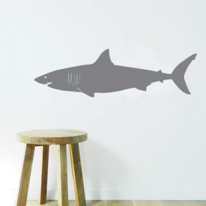 great white shark wall sticker boys room decal