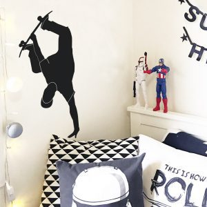 skateboarder wall sticker handplant skater wall decal