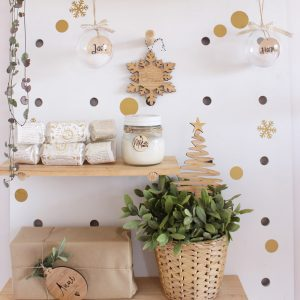 Snowflake Bauble Wall Stickers gold snowflake decals