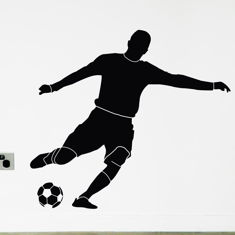 Soccer Player Wall Sticker Football Player kicking ball wall decal
