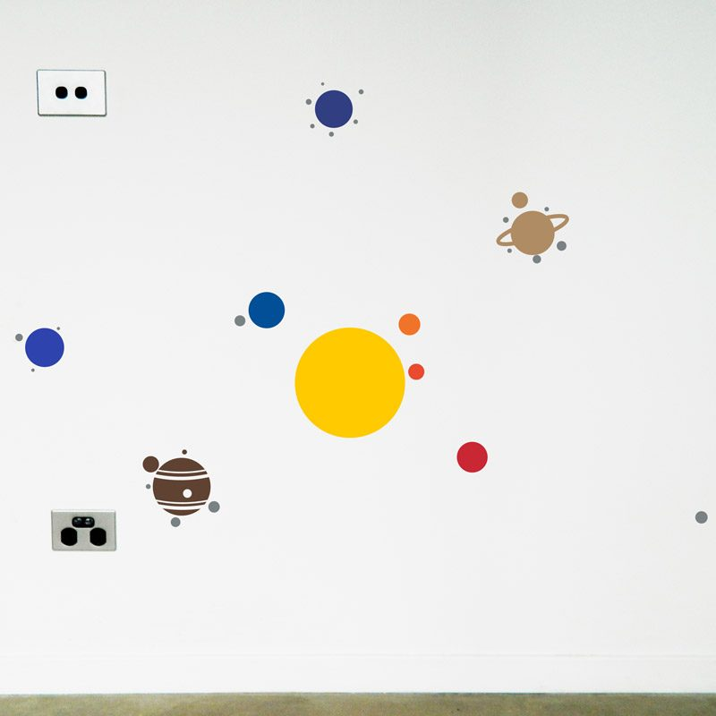 solar system wall sticker planets in space wall decal