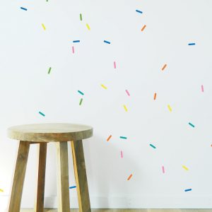 colourful pattern sprinkles wall decor
