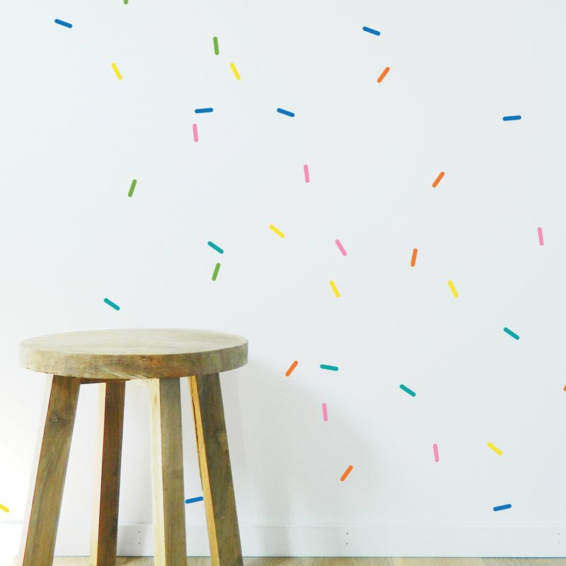 sprinkles wall stickers colourful pattern sprinkles wall decor