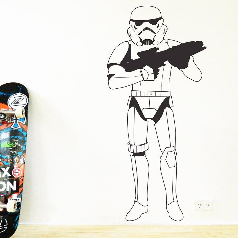 stormtrooper wall sticker star wars