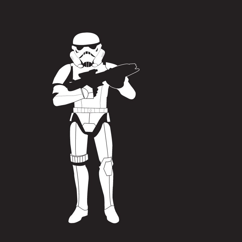 stormtrooper wall sticker white