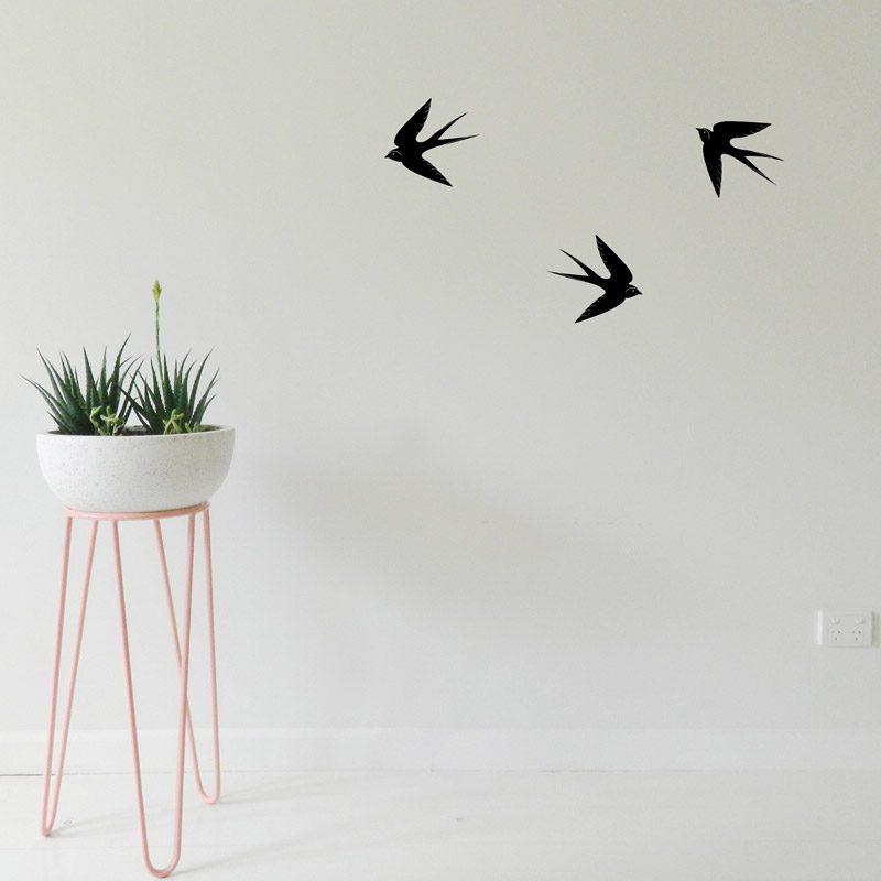 flying birds wall art