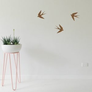 flying swallows wall decor