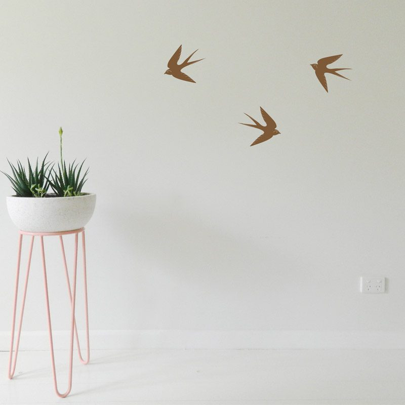 Swallow Birds Wall Sticker flying swallows wall decor