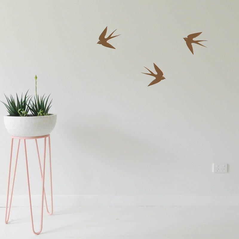 flying swallows wall decor