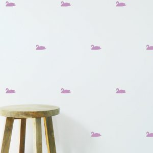 Swan Wall Stickers mini swans wallpaper
