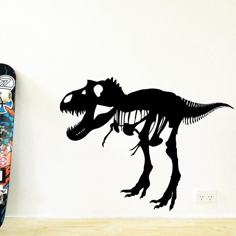 t-rex dinosaur wall sticker tyrannosaurus rex boys decor