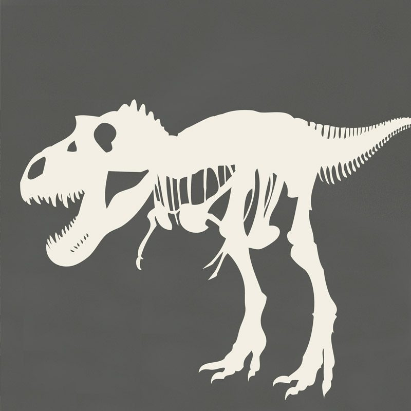 dinosaur bones decal