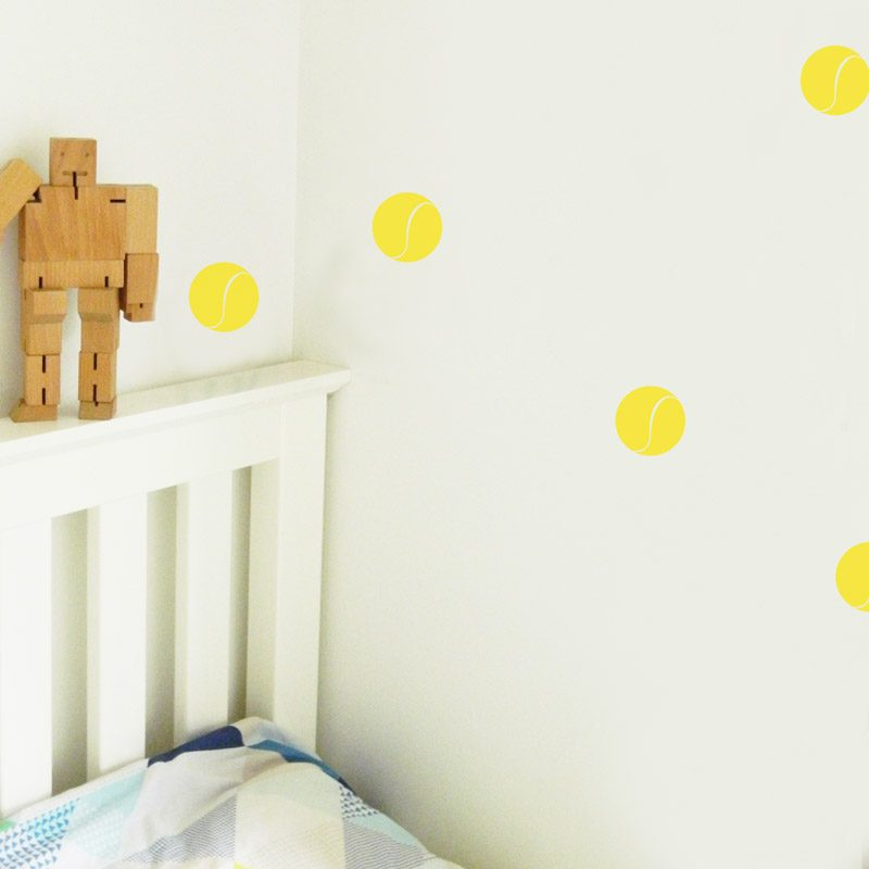Tennis Ball Wall Stickers kids bedroom wall decals tennis balls