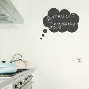 blackboard wall decal thought bubble