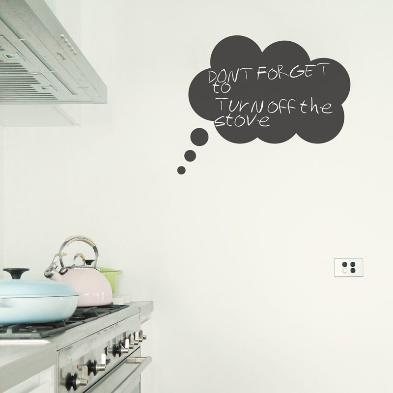thought bubble chalkboard wall sticker blackboard wall decal thought bubble