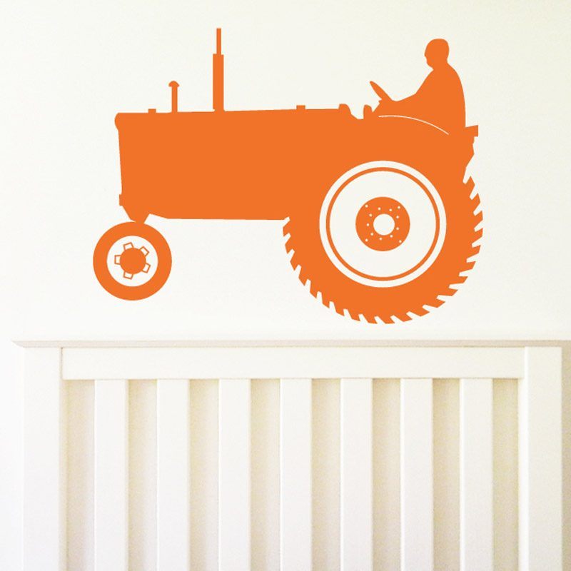 old school tractor wall decal