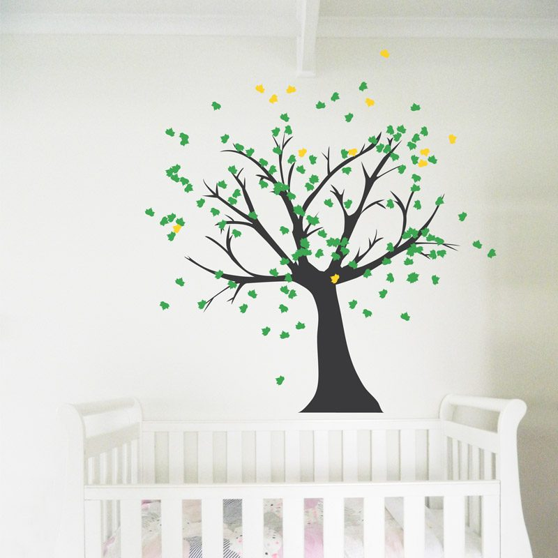 Tree Black Trunk Wall Decal Nursery