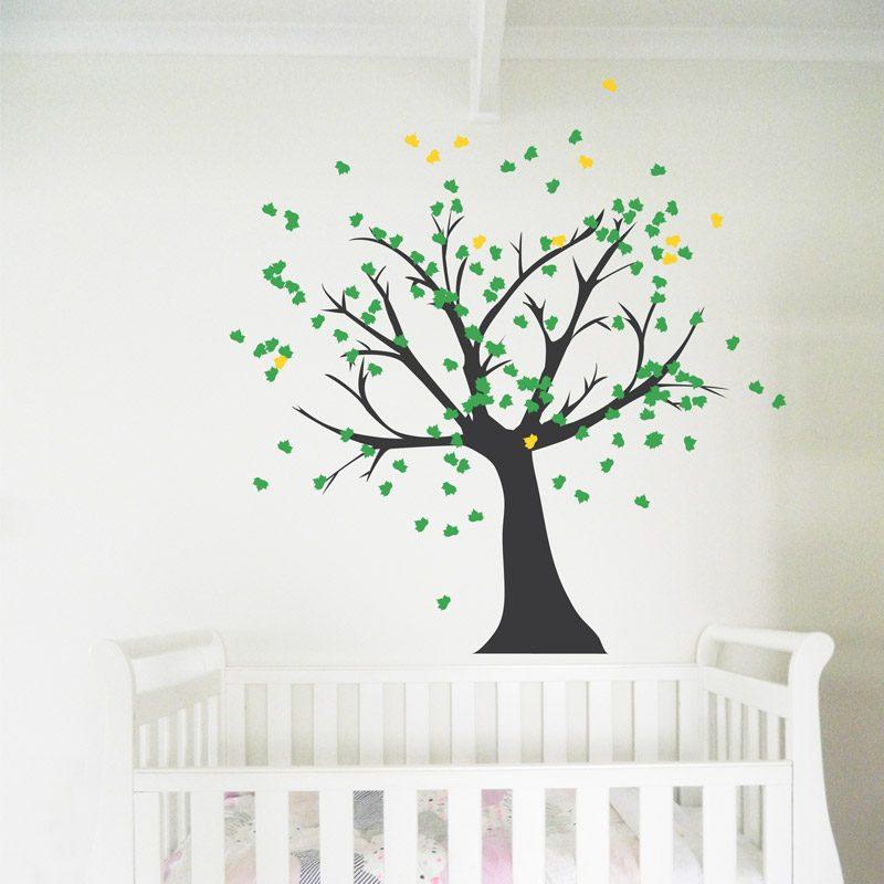 Tree Black Trunk Wall Decal Nursery