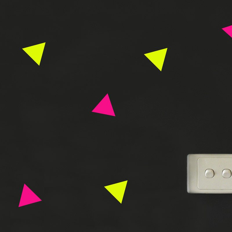 Triangle wall stickers fluorescent shape wall decals