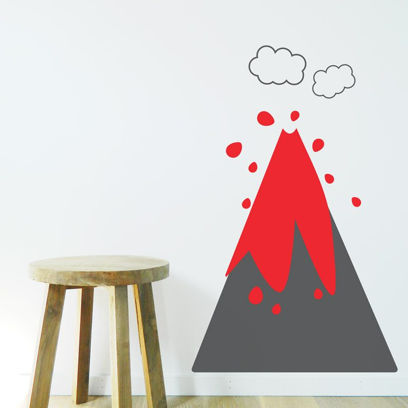volcano wall decal playroom