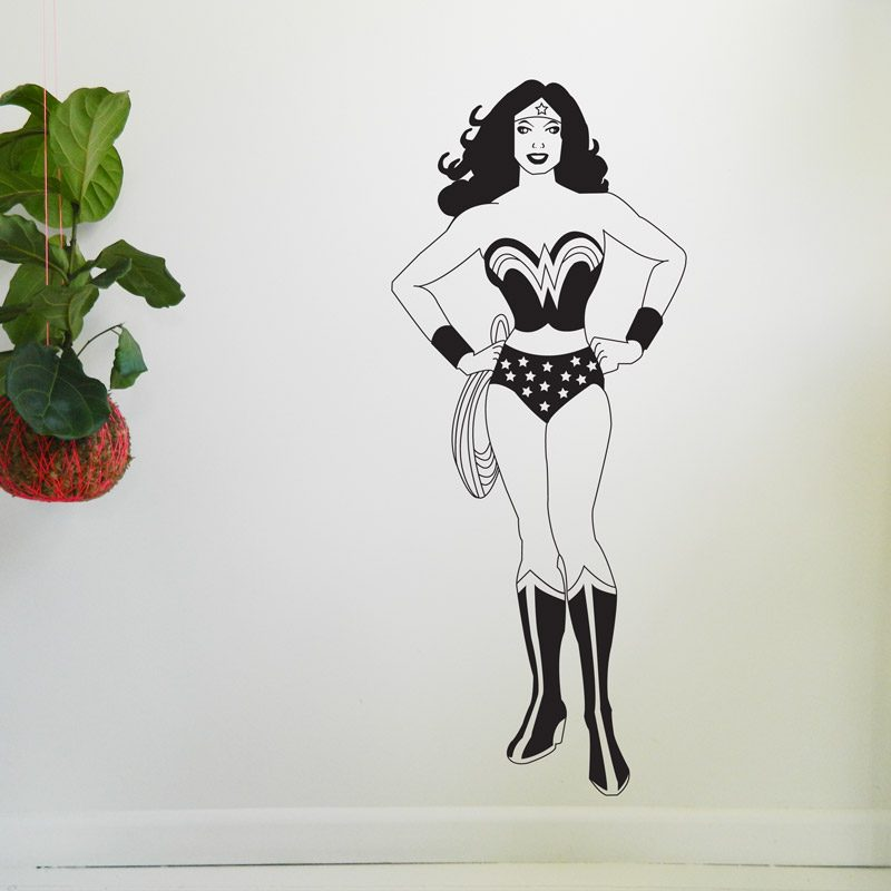 super hero wonder woman wall decal