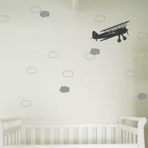 cloud wall stickers toddler nursery walls