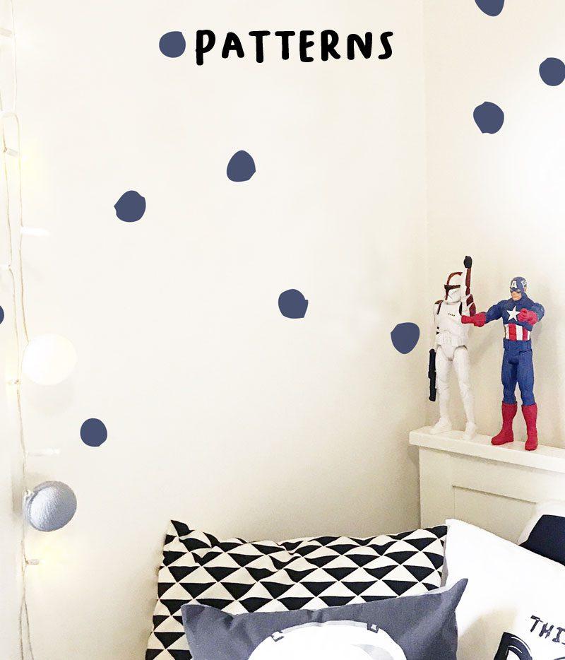 patterns wall stickers