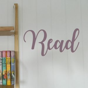 read wall sticker handwritten