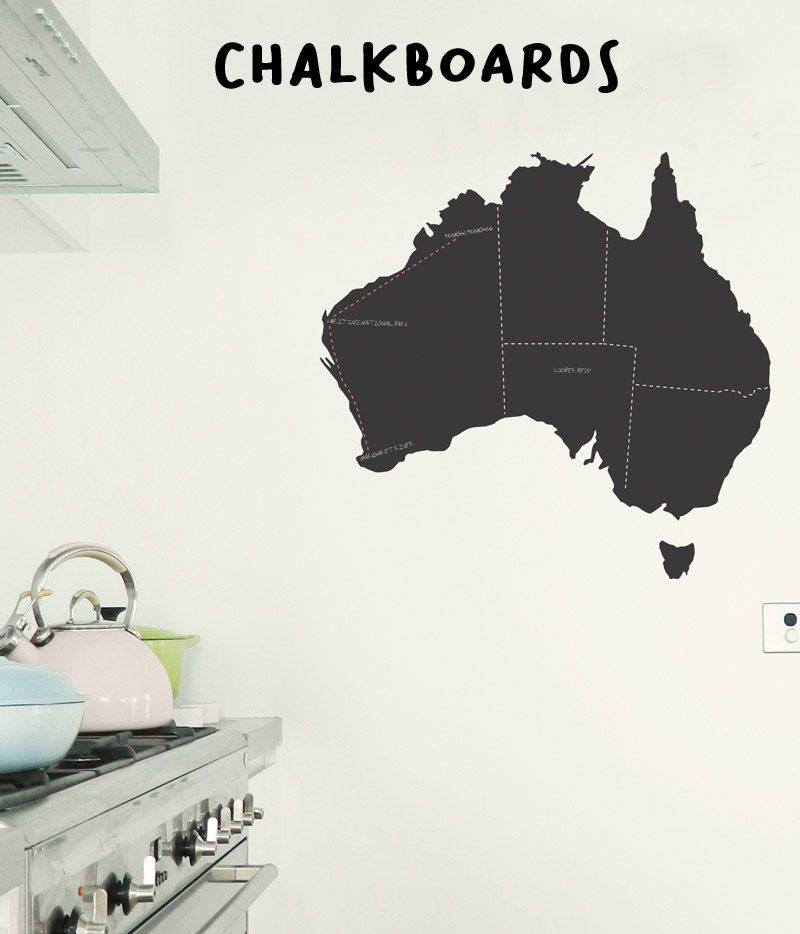 chalkboard wall stickers Australian Map Chalkboard Wall Sticker Decal