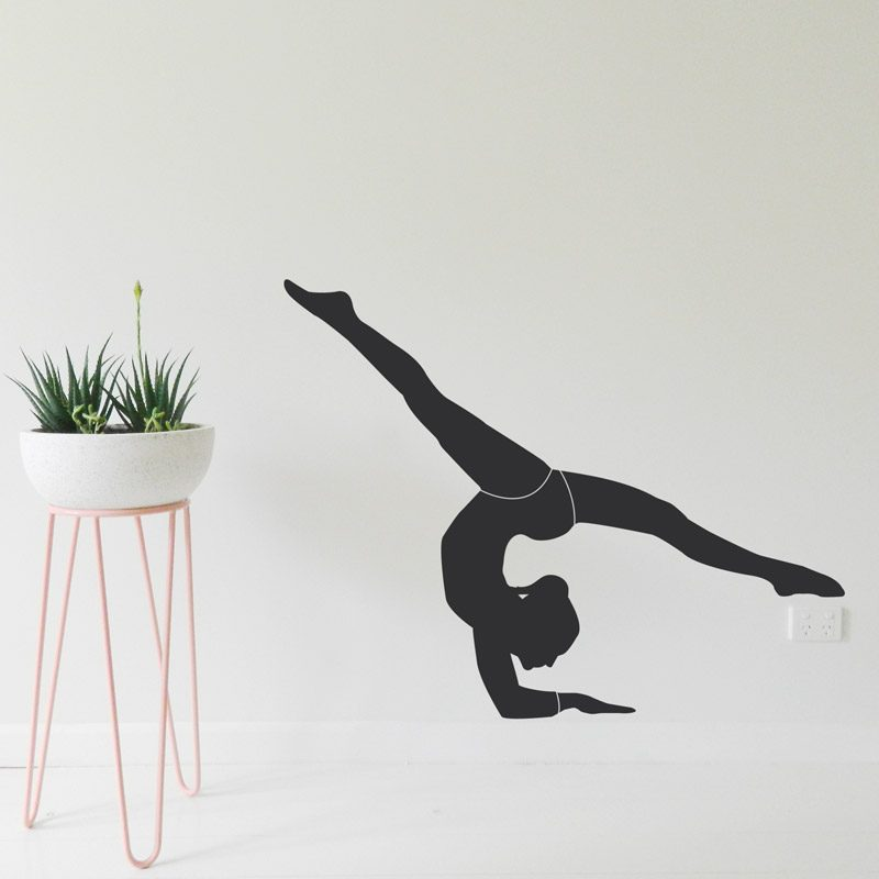 gymnast wall sticker handstand