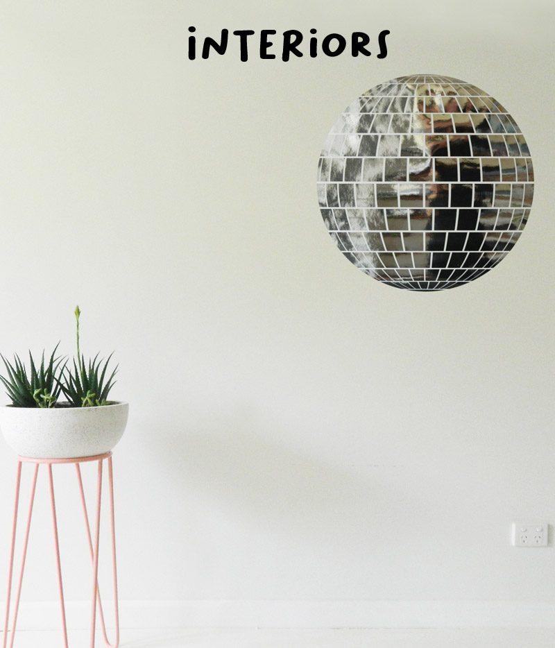 interior wall stickers mirror disco ball wall sticker decal