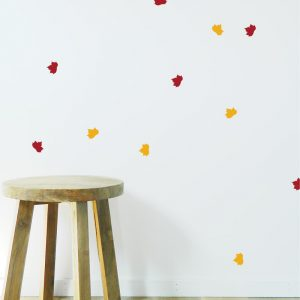 leaf wall stickers fall autumn