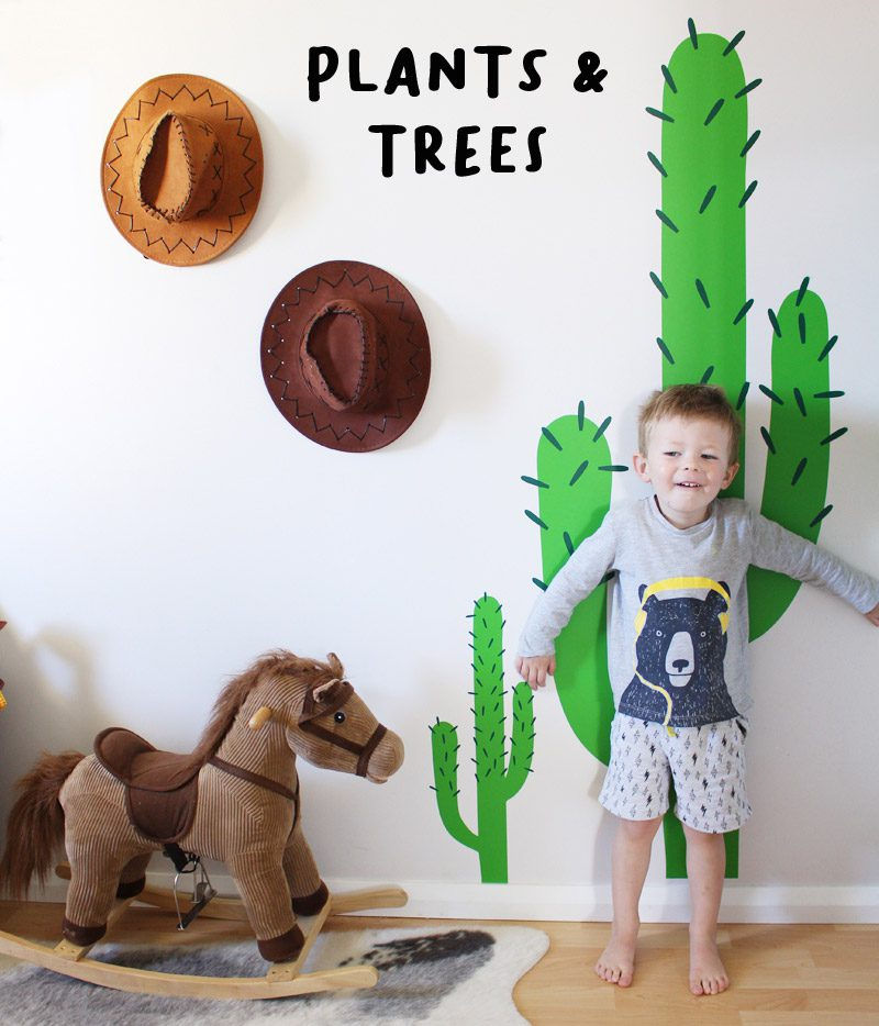 plants tree wall stickers