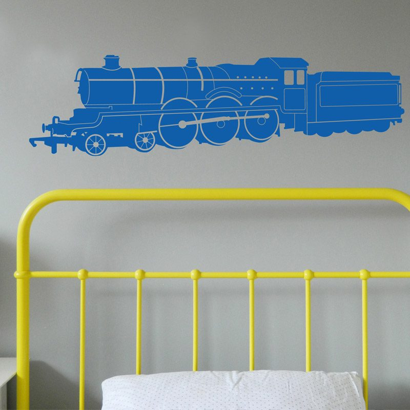 train steam blue wall sticker thomas tank engine
