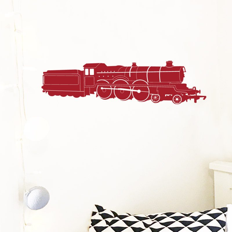 train steam red wall sticker harry potter hogwarts express