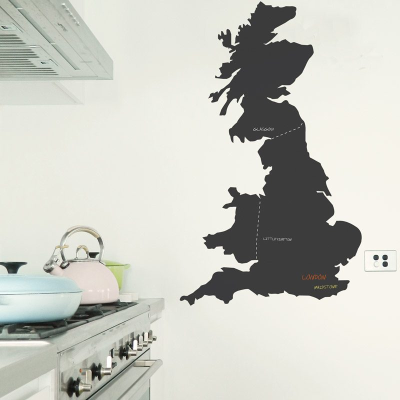 United Kingdom chalkboard wall sticker