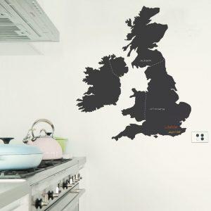 united kingdom chalkboard wall sticker