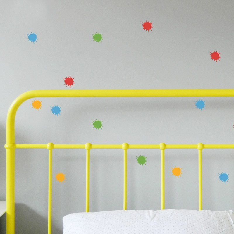 paint splat wall sticker