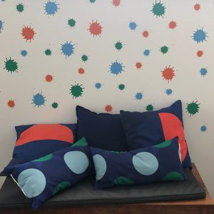 paint splat removable wall decals