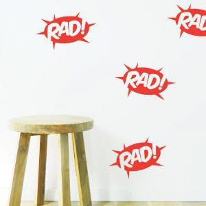 rad wall sticker