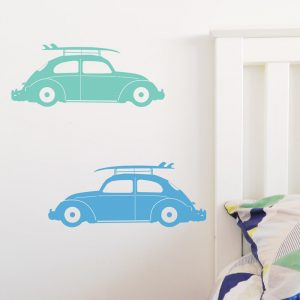 vw beetle wall sticker