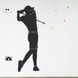 golfer wall sticker