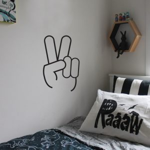 peace sign wall sticker