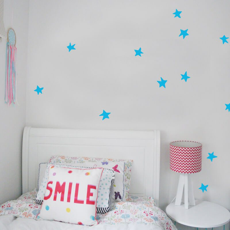 star removable hand drawn wall decals