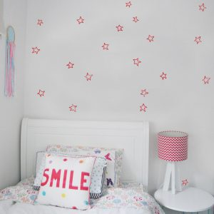 star wall stickers hand drawn