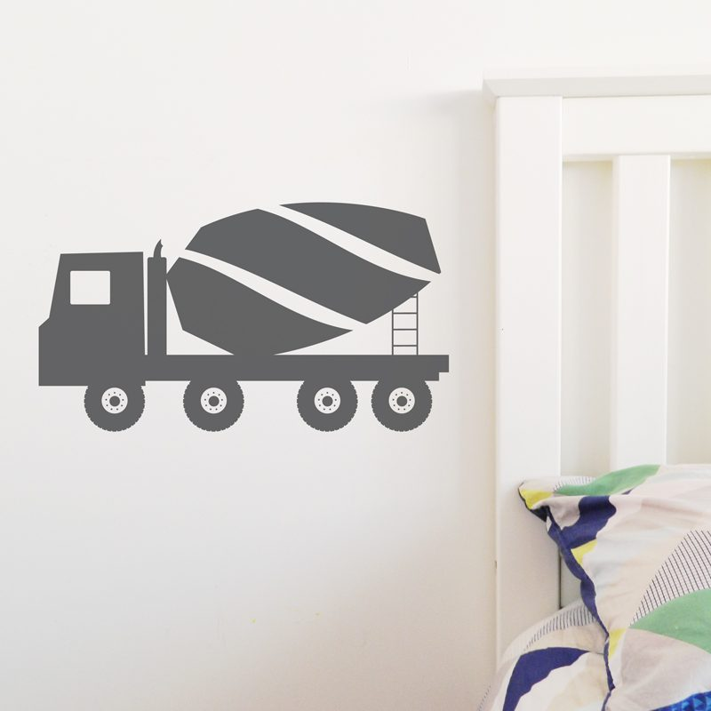 cement mixer truck wall sticker