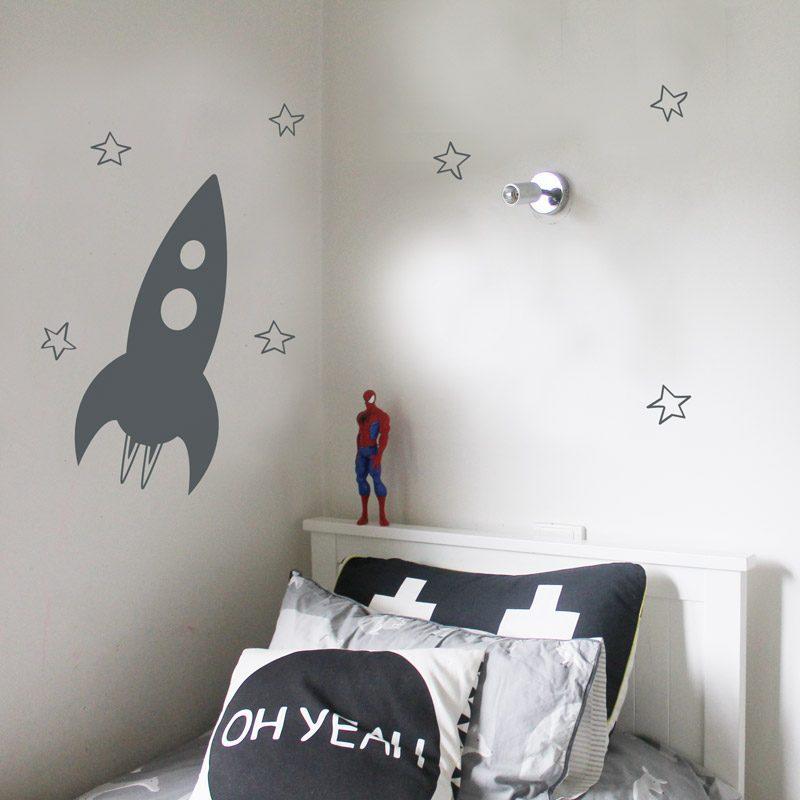 rocket wall sticker